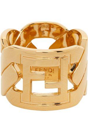 Fendi Herren Ringe - Gold 'Forever ' Chain Ring