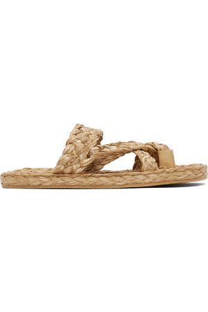 Saint Laurent Herren Sandalen - Raffia Multi-Strap Sandals