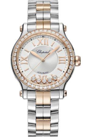 Chopard Sport BHs - Uhr Happy Sport Uhr Mit 33 Mm Gehäuse, Automatik, 18 Karat Roségold, Edelstahl Und Diamanten rosegold