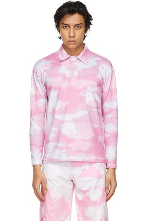 Phlemuns Pink Shirred Long Sleeve Polo