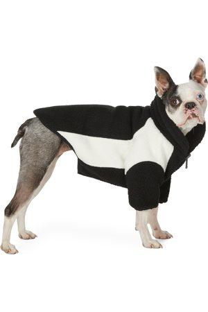 We11 Done SSENSE Exclusive Reversible Black & Off-White Oversized Fleece Dog Jacket
