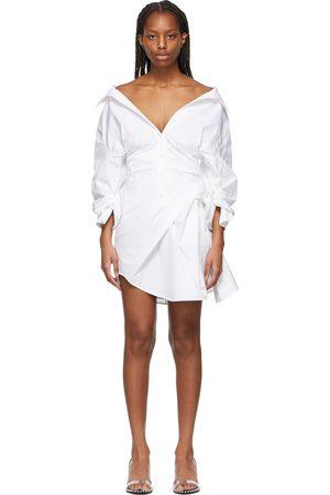 Alexander Wang White Cinched Waist Dress