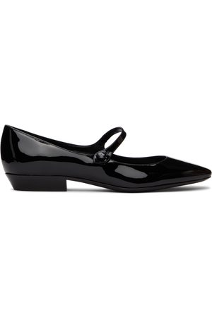 Saint Laurent Black Sixtine Ballerina Flats