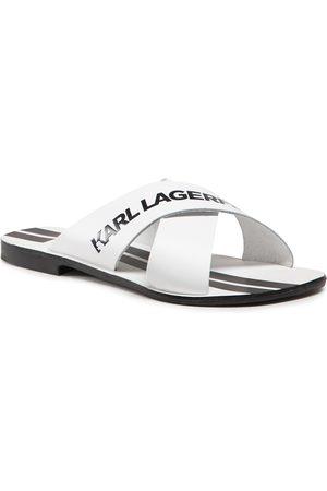 Karl Lagerfeld Damen Sandalen - KL80484 White Lthr w/Black