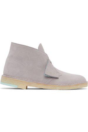 Clarks Grey Suede Desert Boots