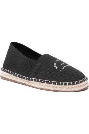 Karl Lagerfeld Herren Halbschuhe - KL70108 Black Knit Textile