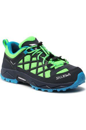 Salewa Jungen Halbschuhe - Jr Wildfire 64007-5810 Fluo Green/Blue Danube 5810