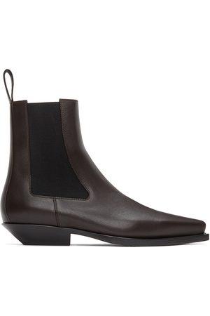 Bottega Veneta Brown 'The Lean' Chelsea Boots