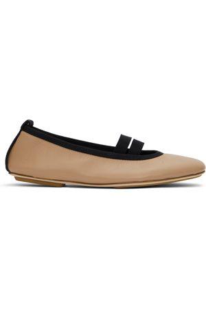 Burberry Tan Grace Ballerina Flats