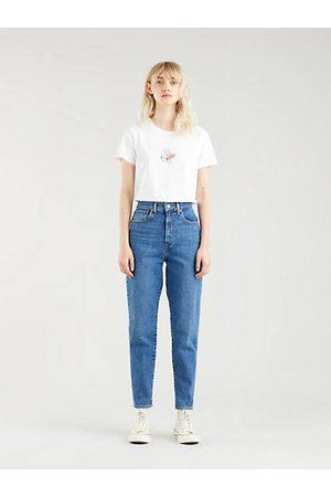 Levi's High Waist Taper Mom Jeans - Medium Indigo / Medium Indigo