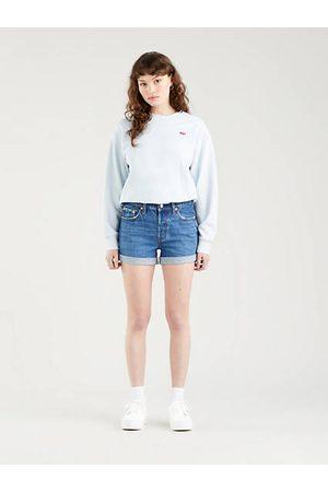 Levi's Damen Shorts - 501® Rolled Shorts - Dark Indigo / Dark Indigo