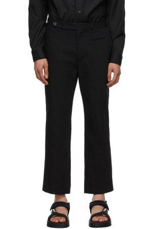 TOM WOOD Black Linen Triumph Trousers