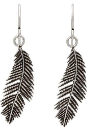 Saint Laurent Silver Palm Leaf Charm Earrings