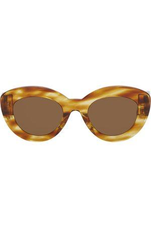 Loewe Brown & Tan Butterfly Circular Sunglasses