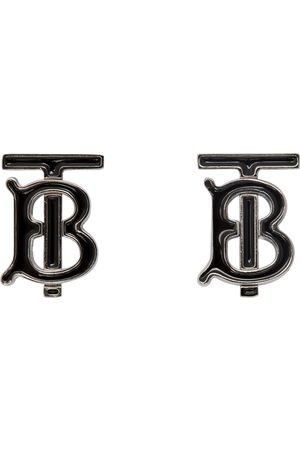 Burberry Black & Silver TB Cufflinks