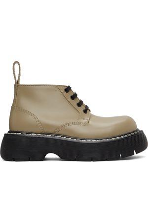 Bottega Veneta Khaki 'The Bounce' Lace-Up Boots