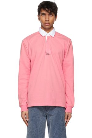 Noah NYC Herren Longsleeves - Pink New Order Edition 'Perfect Kiss' Long Sleeve Polo