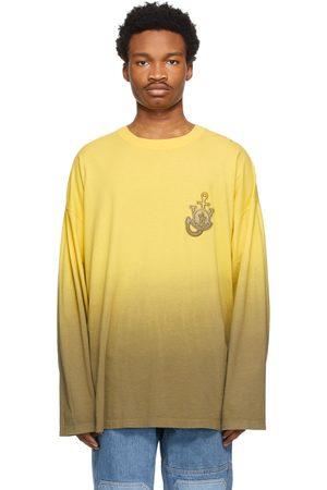 Moncler Genius 1 Moncler JW Anderson Yellow Tie-Dye Long Sleeve T-Shirt