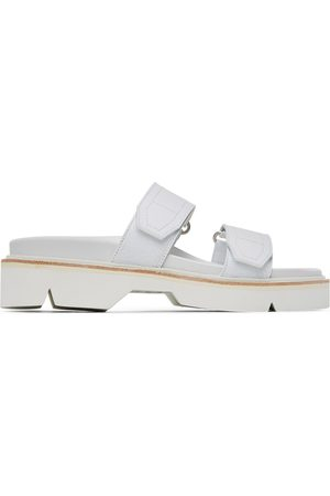 DRIES VAN NOTEN White Velcro Strap Sandals