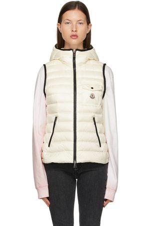 Moncler White Down Glyco Hooded Vest