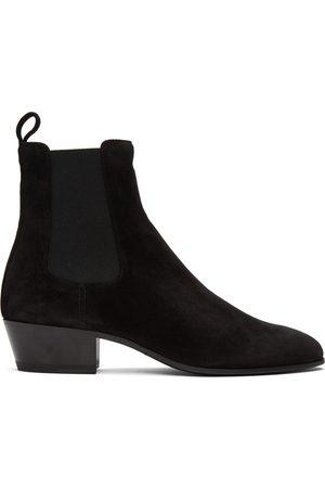 Saint Laurent Black Suede Cole Chelsea Boots