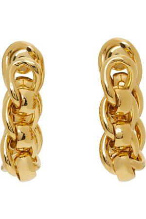 Bottega Veneta Chain Link Hoop Earrings