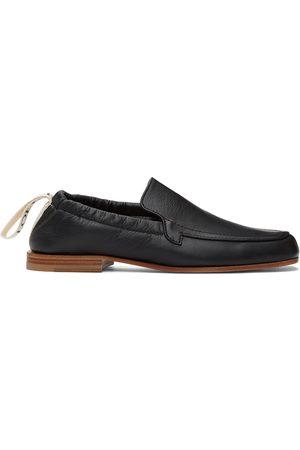 Loewe Black Logo Pull-Tab Loafers
