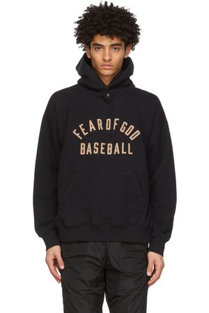 FEAR OF GOD Black 'Baseball' Hoodie