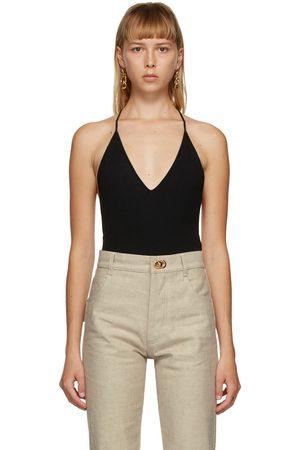 Bottega Veneta Damen Bodys - Black Cashmere Bodysuit