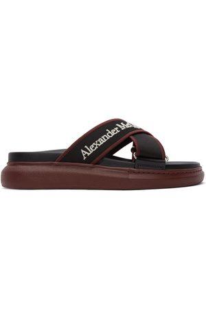 Alexander McQueen Black & Burgundy Oversized Hybrid Sandals