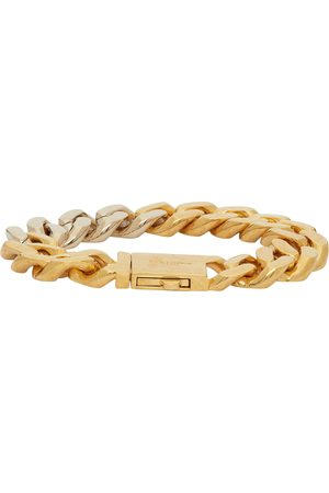 Saint Laurent & Silver Curb Chain Bracelet