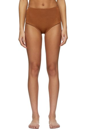 Calle Del Mar Orange Knit Panty Bikini Bottom