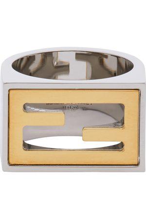Fendi Silver & Gold 'Forever ' Signet Ring
