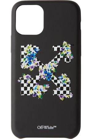 OFF-WHITE Black Check Floral Print iPhone 11 Pro Case