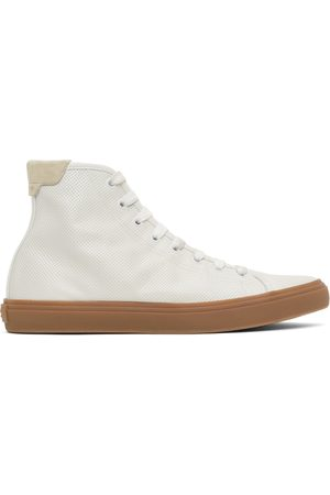 Saint Laurent White Larry High-Top Sneakers