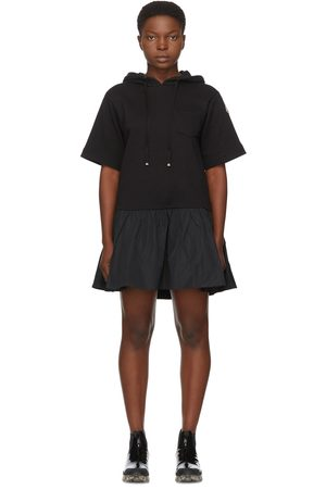 Moncler Black Hoodie Short Dress