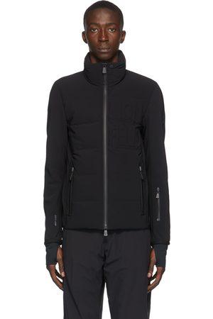 Moncler Black Down Logo Cardigan Jacket