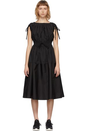 Moncler Black Poplin Drawstring Dress