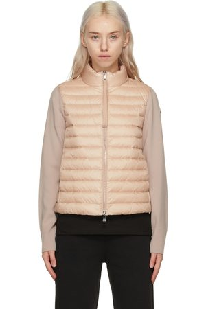 Moncler Damen Mäntel - Pink Down Cardigan Jacket