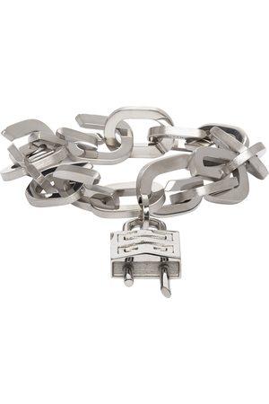 Givenchy Silver G Link Padlock Bracelet