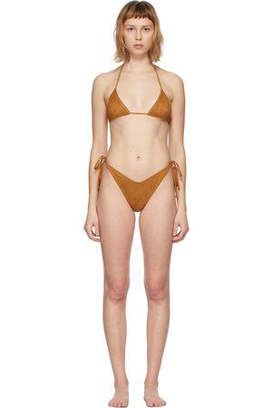 Reina Olga Tan Suede Susan Bikini