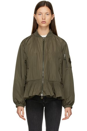 Moncler Damen Bomberjacken - Khaki Down Mirac Bomber Jacket