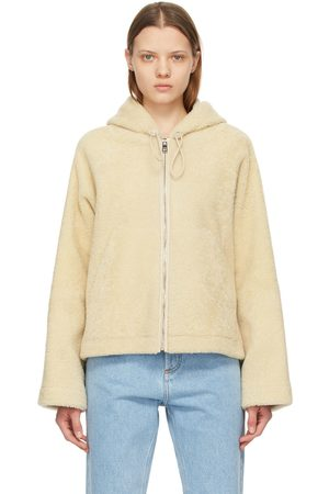 Loewe Off-White Shearling Hooded Jacket