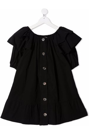 Le pandorine Mädchen Freizeitkleider - Button-down ruffle dress