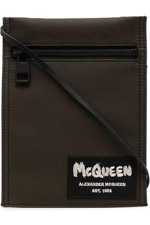 Alexander McQueen Kuriertasche mit Logo-Patch