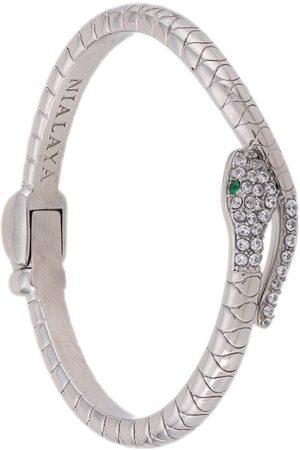 Nialaya Damen Armbänder - Kristallverzierte Armspange im Schlangen-Design