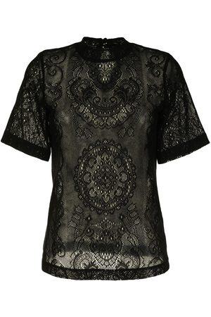 MAME KUROGOUCHI Damen T-Shirts, Polos & Longsleeves - T-Shirt aus Spitzen-Jacquard