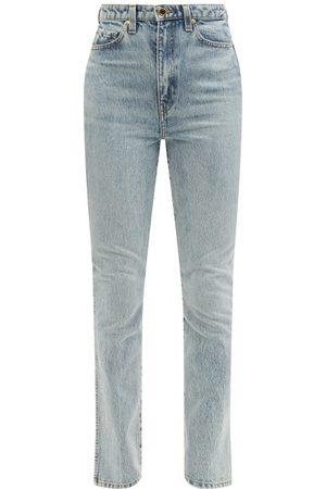 Khaite Daria Santa Fe Faded-wash Slim-leg Jeans