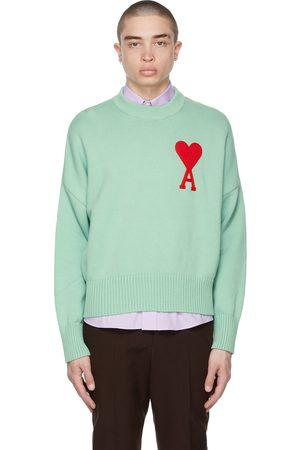 Ami SSENSE Exclusive Green Oversize Ami De Coeur Sweater