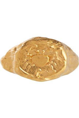 Alighieri Vergoldeter Ring Cancer aus Sterlingsilber